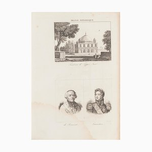 Unknown, Tomb of Tippoo Sacb, Original Lithograph, 19th Century