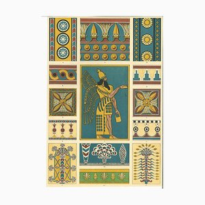 Unknown, Decorative Motifs, Original Lithograph, Early 20th Century