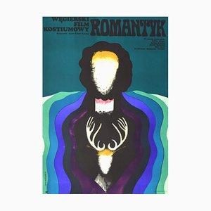 Póster vintage sobre el romanticismo de Onegin Dabrwski, 1973