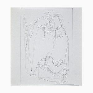 Leo Guida, Reclining Nude, Original Pencil Drawing by Leo Guida, 1972