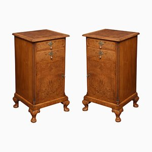 Queen Anne Style Bedside Cabinets, Set of 2