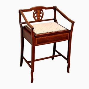 Edwardian Mahogany Piano Stool