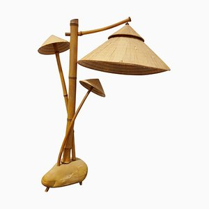Bamboo Table Lamp, 1980s