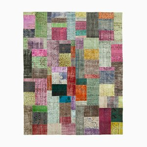 Mehrfarbiger Patchwork Teppich