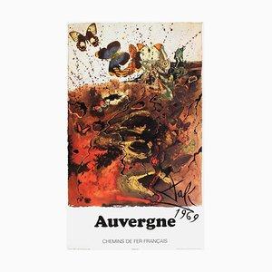 Poster SNCF, Auvergne, Chemin de Fer, Salvador Dali