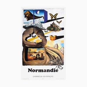 SNCF, Normandie Plakat der Französischen Eisenbahn, Salvador Dali