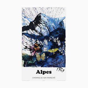 SNCF, French Railways Alps Poster, Salvador Dali