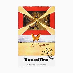 Grande Affiche Roussillon par Salvador Dali pour SNCF, France