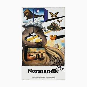Grande Affiche Normandie par Salvador Dali pour SNCF