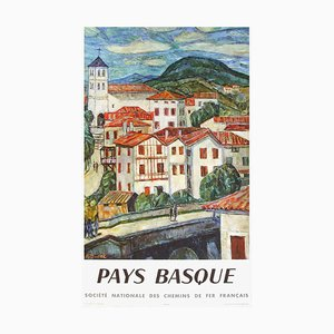 Pays Basque SNCF Poster by Auguste Durel