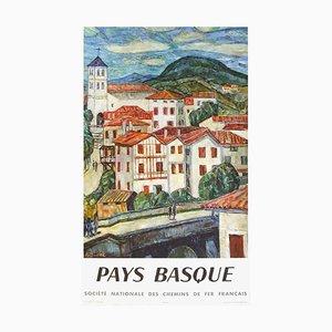 Póster SNCF de Pays Basque de Auguste Durel
