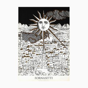Affiche Sun Gerusalemme par Piero Fornasetti