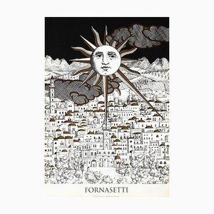 Sun Gerusalemme Poster by Piero Fornasetti