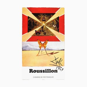 SNCF, French Railways, Roussillon Poster, Salvador Dali