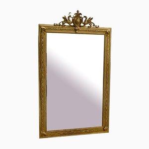 Espejo Napoleon III de madera dorada