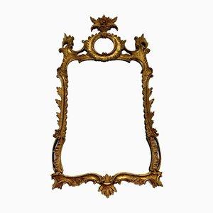 Espejo italiano de madera dorada, siglo XX
