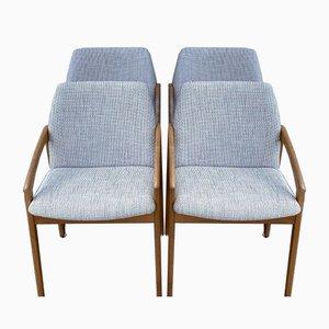 Chaises de Salon Modèle 23 Mid-Century par Henning Kjærnulf pour Korup Stolefabrik, Set de 4
