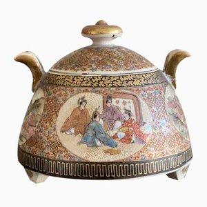 Kleiner antiker japanischer Satsuma Keramik Behälter, ca. 1900