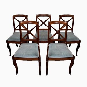 19th Century Mahogany Dining Chairs, Set of 5