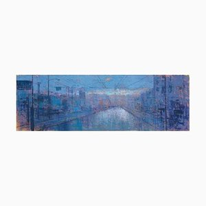 Renato Criscuolo, Urban Road, Oil on Canvas