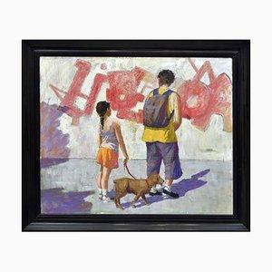 Renato Criscuolo, Graffiti, Oil on Canvas