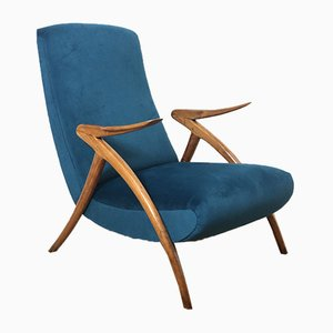 Italian Lounge Chair by Augusto Romano, 1950s