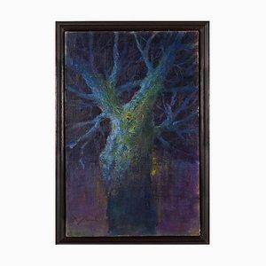 Renato Criscuolo, Tree Bleu, óleo sobre lienzo