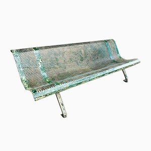 French Iron Park Bench, 1940s