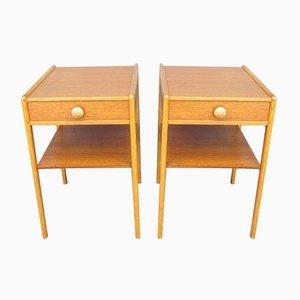 Tables de Chevet Scandinaves, 1960s, Set de 2