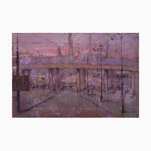 Renato Criscuolo, suburbano, óleo sobre lienzo