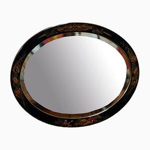 Espejo de pared antiguo chinoisípe biselado o biselado