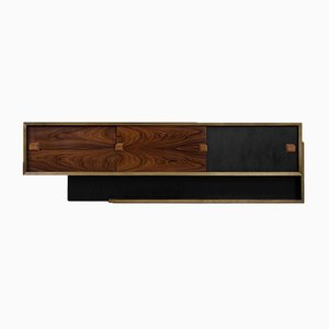 German Brutalist Bauhaus Rosewood Sideboard, 1950s