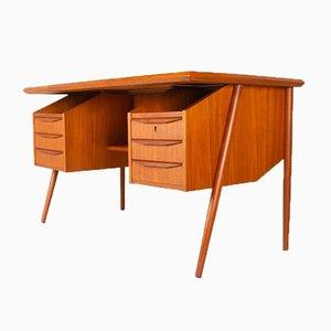 Vintage Danish Teak Desk by Gunnar Nielsen Tibergaard for Tibergaard, 1960s