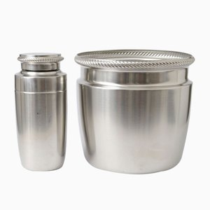 Cocktail Shaker & Wine Bucket Set from Alessi, 1970s, Set of 2
