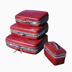 Hard Suitcases from Sansonite, 1970s, Set of 4
