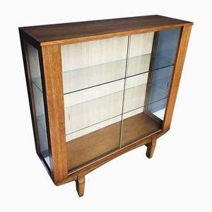 Mobiletto Mid-Century in teak e vetro, anni '60