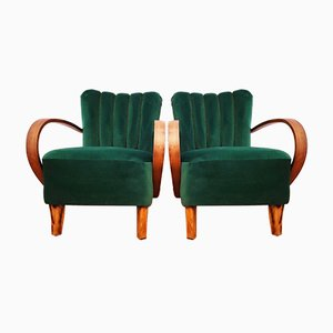 Czechoslovakian Armchairs by Jindřich Halabala for UP Závody, 1950s, Set of 2