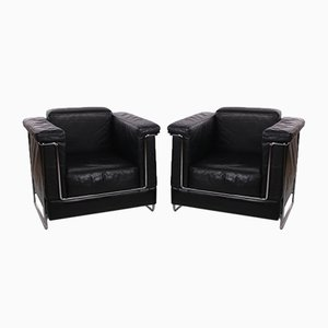 Leather Carat Armchairs from Zuco, 1970s, Set of 2