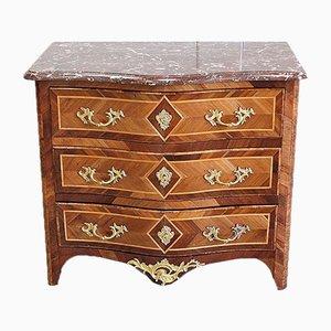 Cassettiera piccola in stile Luigi XIV in legno