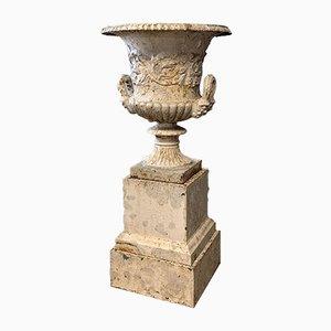 Antike Gusseisen Gartenurne von Handyside, 1800er