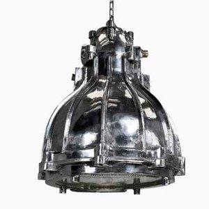British Industrial Cast Aluminium Flameproof Pendant Lamp from Crompton, 1980s