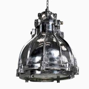 Lampe à Suspension Industrielle Ininflammable Industrielle en Fonte de Crompton, 1980s