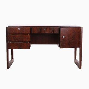Niederländischer Schreibtisch mit Tür & Schubladen, 1960er