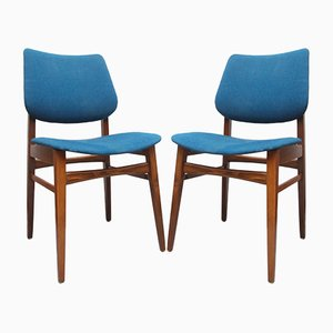 Blue Dining Chairs, 1960s, Set of 2