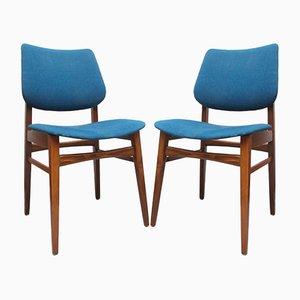 Chaises de Salon Bleues, 1960s, Set de 2