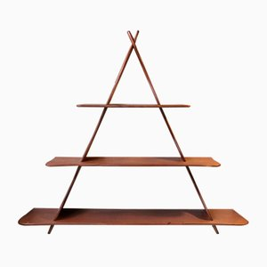 Peder Moos Style Danish Teak Triangular Wall Shelf, 1950s