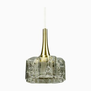 Mid-Century Glass & Aluminium Pendant Lamp from Doria Leuchten