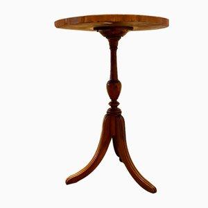 Table Basse Antique Trépied en Chêne, Italie, 1800s