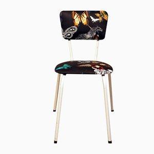 Kleiner Beistellstuhl aus Designer Gildem Stoff, 1950er