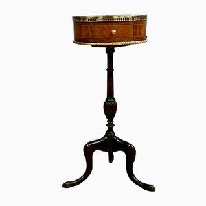 Napoleon III Inlaid Wood Drum Table, 1850s
